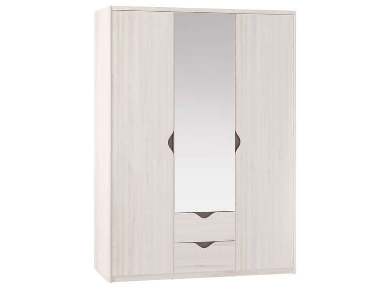armoire 3 portes dont porte miroir 2 tiroirs conforama. Black Bedroom Furniture Sets. Home Design Ideas