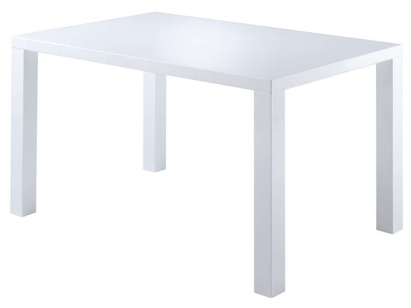 Table rectangulaire 120x80 cm nadja coloris blanc for Table 120x80
