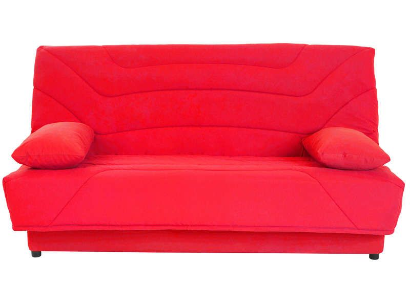 couette clic clac 130 cm julia coloris rouge conforama. Black Bedroom Furniture Sets. Home Design Ideas