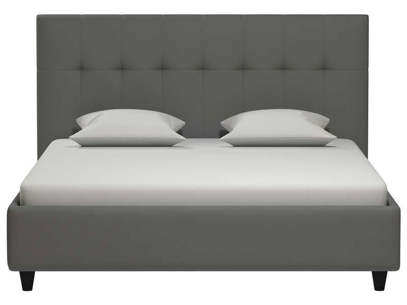 lit adulte 160x200 cm capries coloris gris conforama pickture. Black Bedroom Furniture Sets. Home Design Ideas