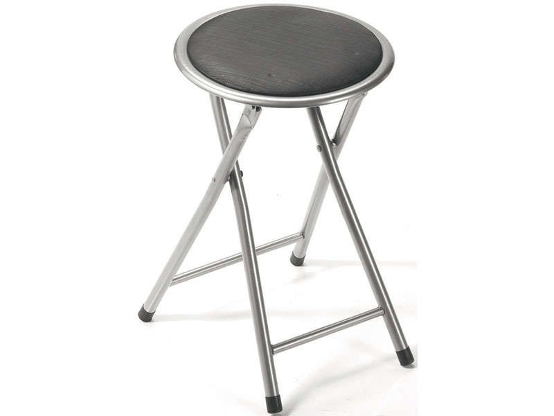Tabouret pliant folk coloris gris conforama pickture - Tabouret de bar pliant ...