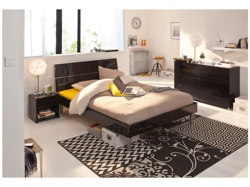 ensemble lit t te de lit 140 cm easy 2 conforama pickture. Black Bedroom Furniture Sets. Home Design Ideas