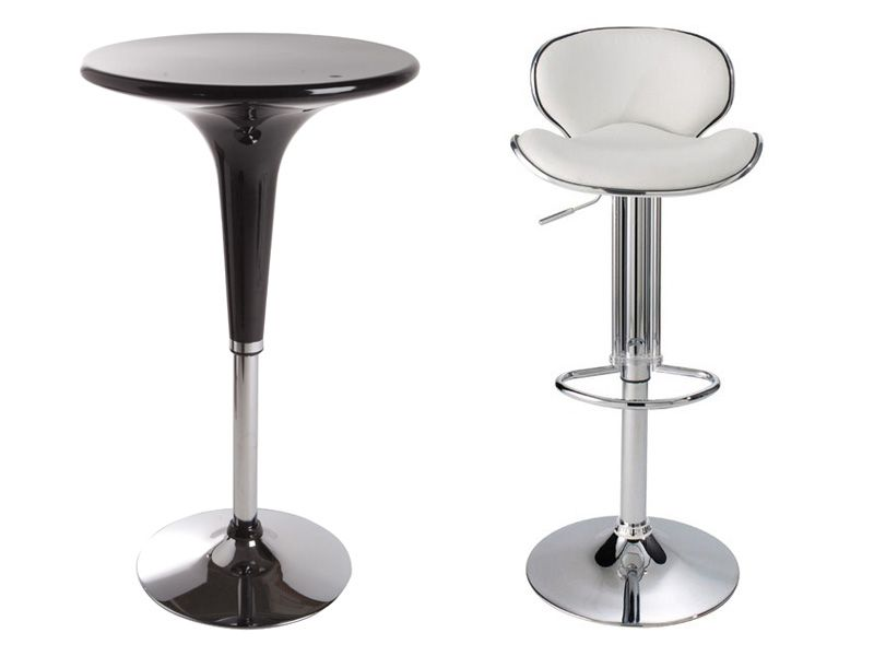 Table cheers 2 tabourets de bar shoko conforama pickture - Table bar 2 tabourets ...