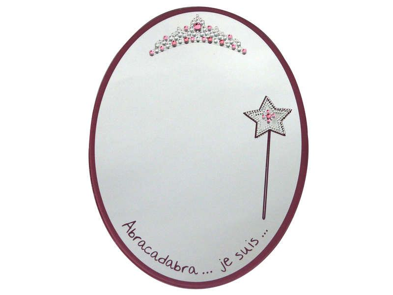 Miroir 30x21 cm princesse conforama pickture for Miroir princesse