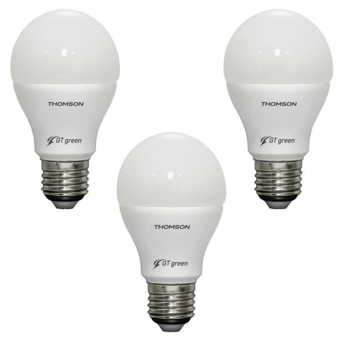 thomson lot de 3 ampoules led e27 10 8w dimmable thomson pickture. Black Bedroom Furniture Sets. Home Design Ideas