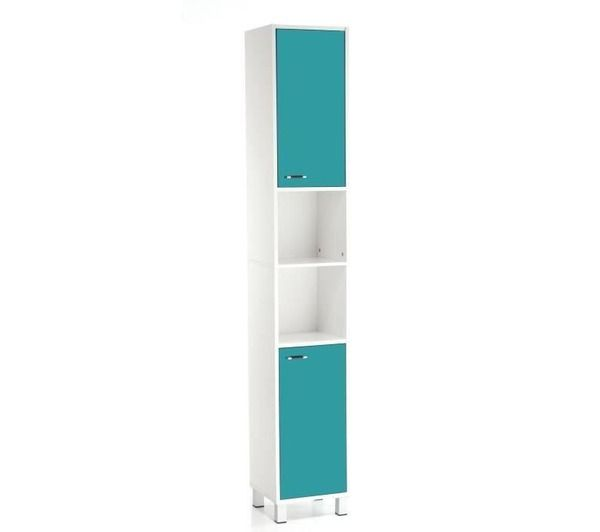 Colonne salle de bain high glossy turquoise noname for Colonne de salle de bain turquoise
