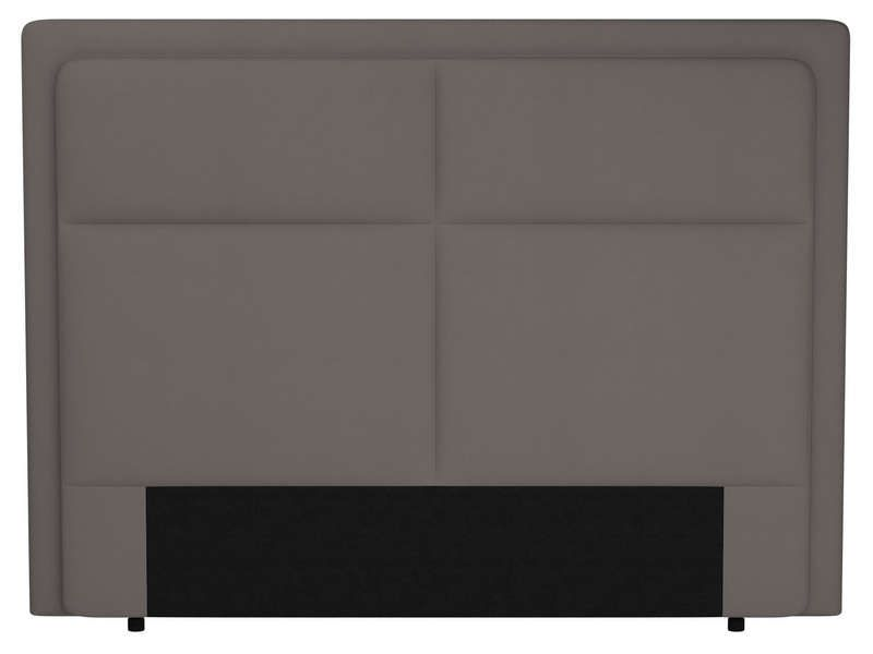 t te de lit 200 cm electra coloris taupe conforama. Black Bedroom Furniture Sets. Home Design Ideas