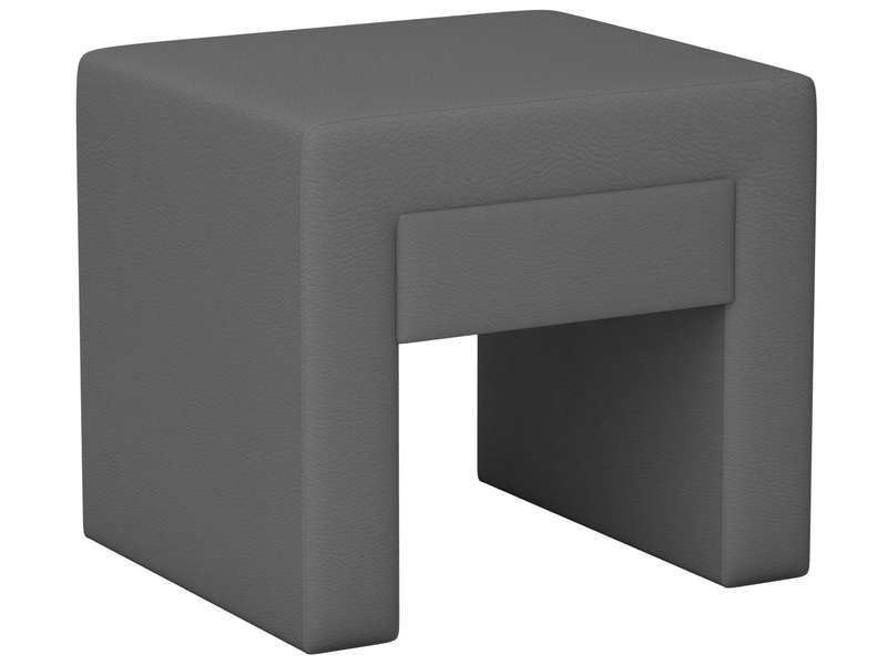 Chevet 1 tiroir en pu myriade coloris gris conforama - Table de chevet cuir ...