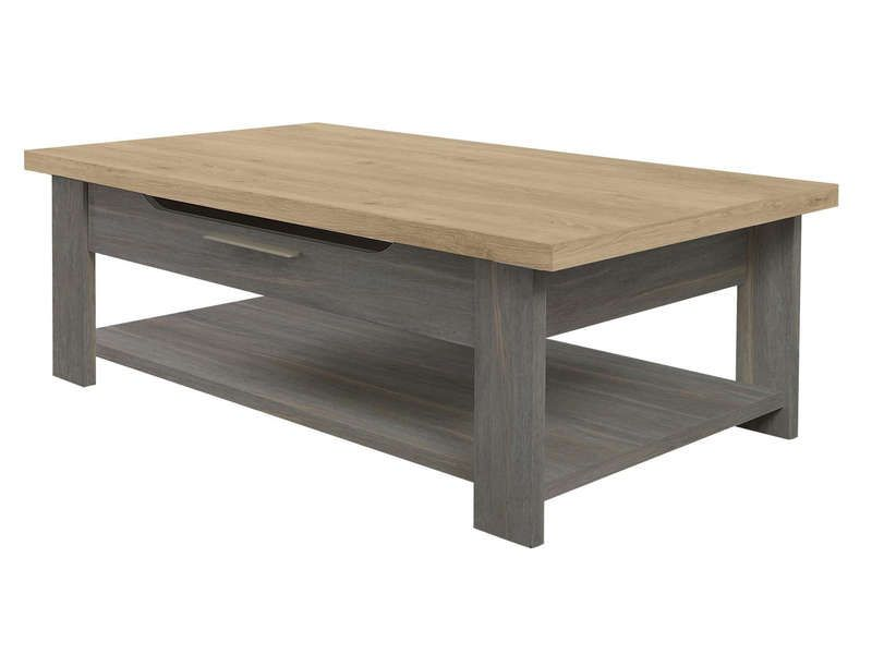 Table basse toscane gris conforama pickture for Table basse modulable conforama