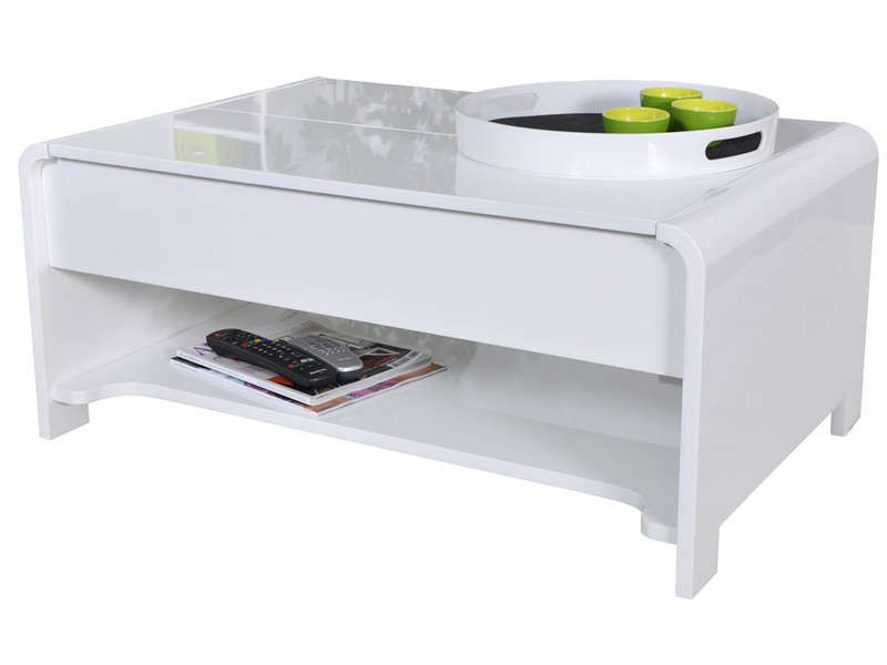 table basse duna coloris blanc conforama pickture. Black Bedroom Furniture Sets. Home Design Ideas