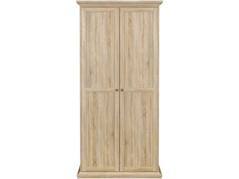 armoire 2 portes paris coloris ch ne conforama pickture. Black Bedroom Furniture Sets. Home Design Ideas