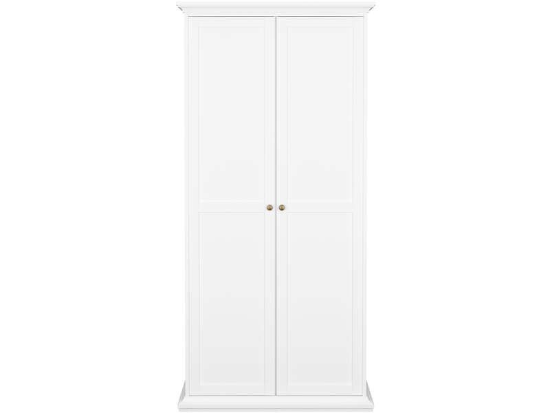 armoire 2 portes paris coloris blanc conforama pickture. Black Bedroom Furniture Sets. Home Design Ideas