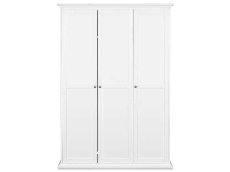 armoire 3 portes paris coloris blanc conforama pickture. Black Bedroom Furniture Sets. Home Design Ideas