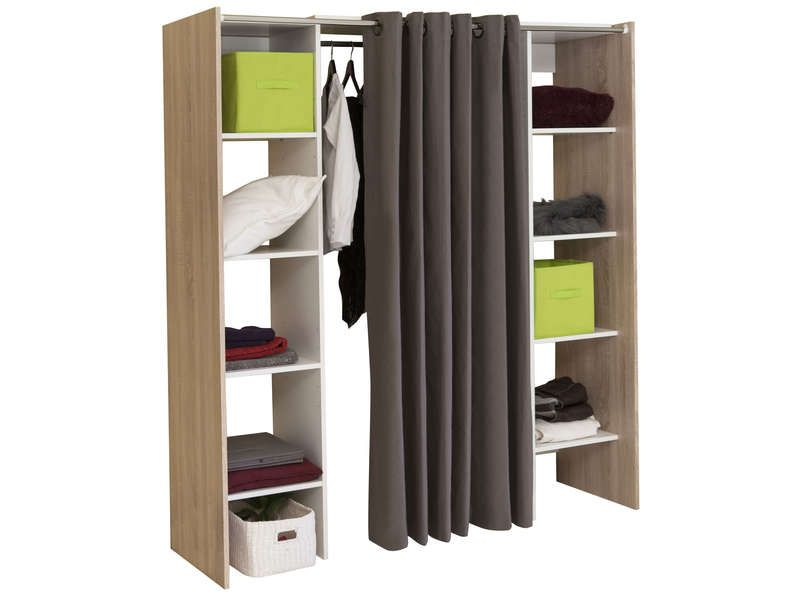 dressing extensible avec rideau conforama pickture. Black Bedroom Furniture Sets. Home Design Ideas