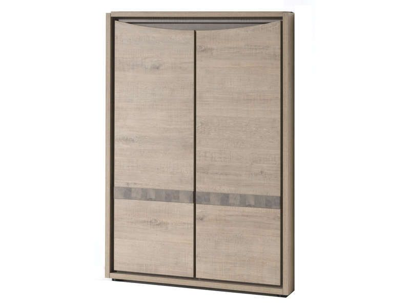 Meuble de rangement 2 portes calgary conforama pickture for Meuble 2 porte conforama