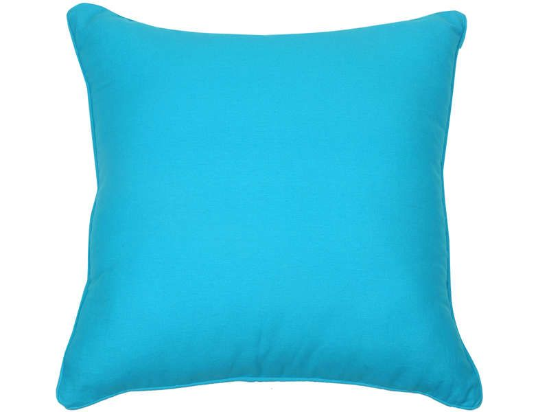 coussin 50x50 cm sara coloris turquoise conforama pickture. Black Bedroom Furniture Sets. Home Design Ideas