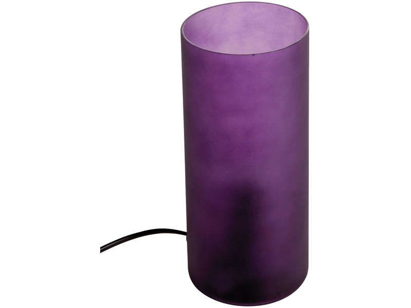 lampe cylindrique popsy coloris violet conforama pickture. Black Bedroom Furniture Sets. Home Design Ideas