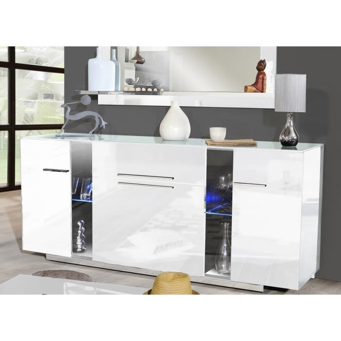vertigo bahut laqu blanc l195 cm aucune pickture. Black Bedroom Furniture Sets. Home Design Ideas