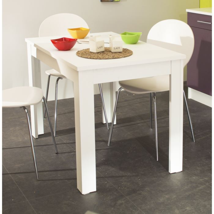 pepper table de cuisine 110x70cm blanche aucune pickture. Black Bedroom Furniture Sets. Home Design Ideas