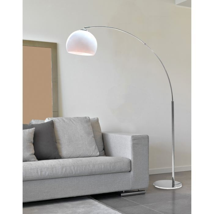 desi lampadaire arc blanc hauteur 166cm aucune pickture. Black Bedroom Furniture Sets. Home Design Ideas