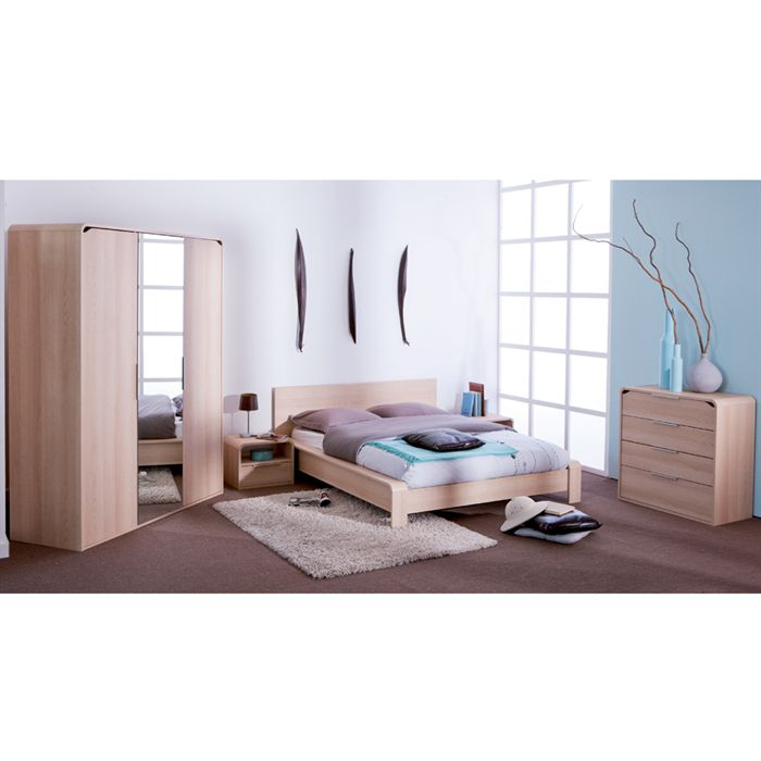 bor al lit adulte 140x190 chene blond aucune pickture. Black Bedroom Furniture Sets. Home Design Ideas