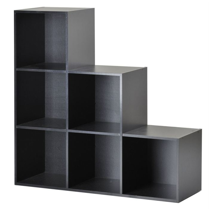 compo meuble escalier 6 cases noir aucune pickture. Black Bedroom Furniture Sets. Home Design Ideas