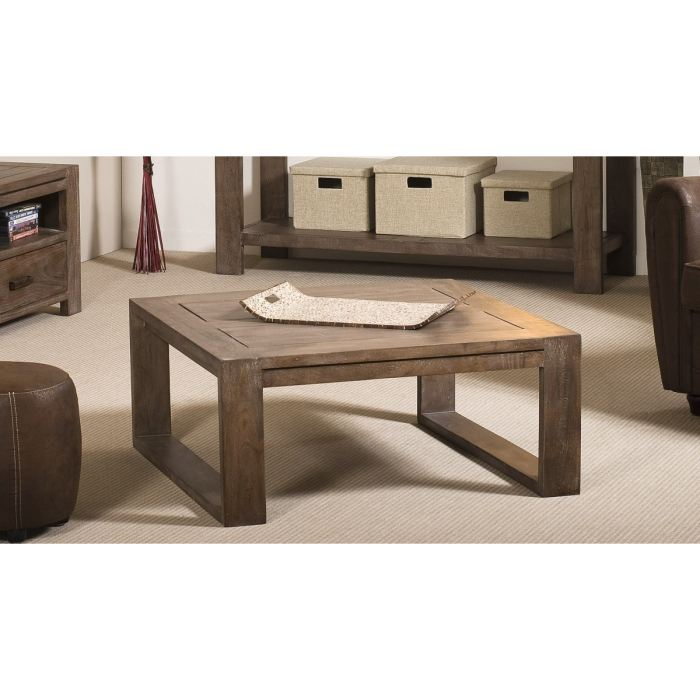 bastia table basse pieds avec 80x80 en acacia aucune pickture. Black Bedroom Furniture Sets. Home Design Ideas