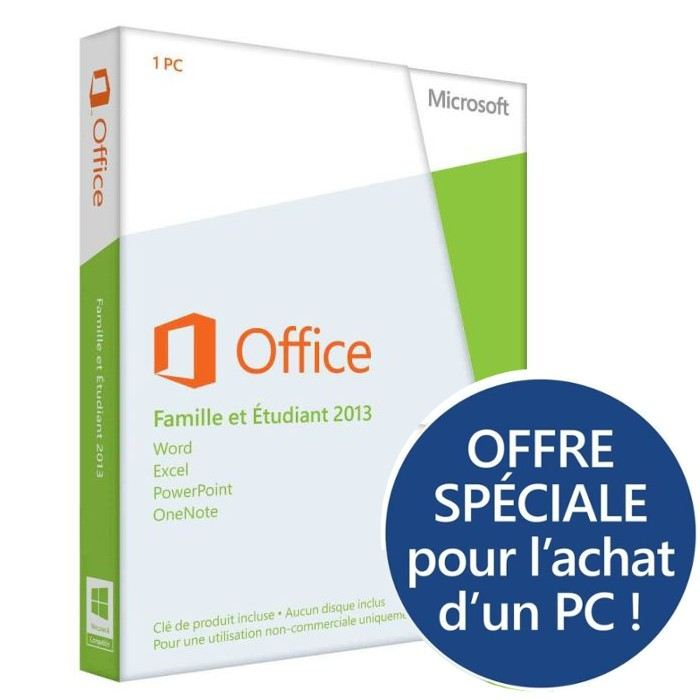 office famille et etudiant 2013 1pc microsoft pickture. Black Bedroom Furniture Sets. Home Design Ideas