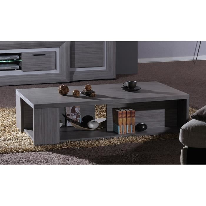 lynea table basse bois gris et laque l140 cm aucune. Black Bedroom Furniture Sets. Home Design Ideas