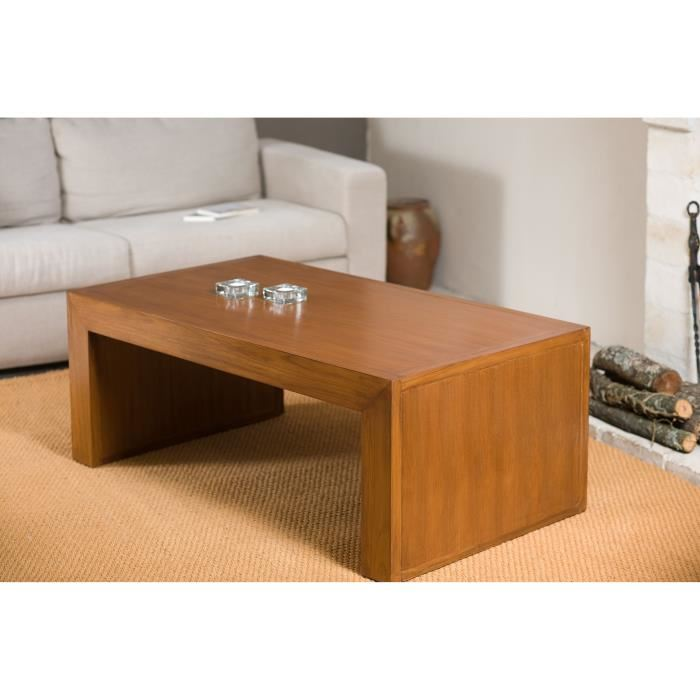 biarritz table basse moderne 110 x 60 cm en teck aucune pickture. Black Bedroom Furniture Sets. Home Design Ideas
