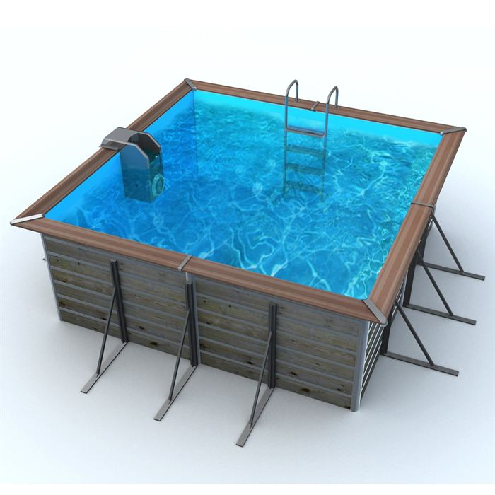 Piscine bois alu waterclip 310x310x147 optimum aucune for Piscine waterclip
