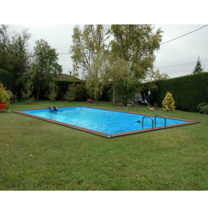 Piscine bois alu waterclip 620x310x147 optimum aucune for Piscine enterree en kit