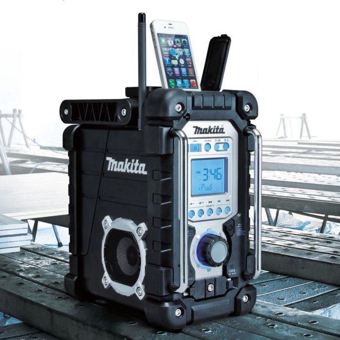 Makita radio de chantier pour iphone ipod makita pickture - Radio de chantier makita ...