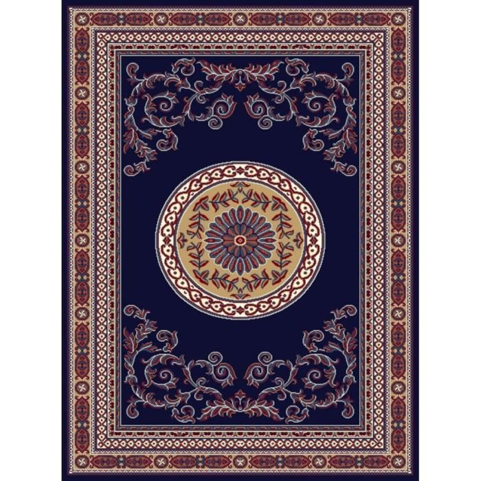 tapis d 39 orient contemporain 160 230 bleu nuit mondial tapis pickture. Black Bedroom Furniture Sets. Home Design Ideas