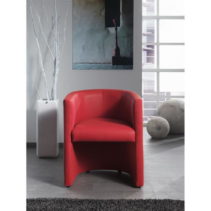 corfu fauteuil cabriolet en simili rouge aucune pickture. Black Bedroom Furniture Sets. Home Design Ideas