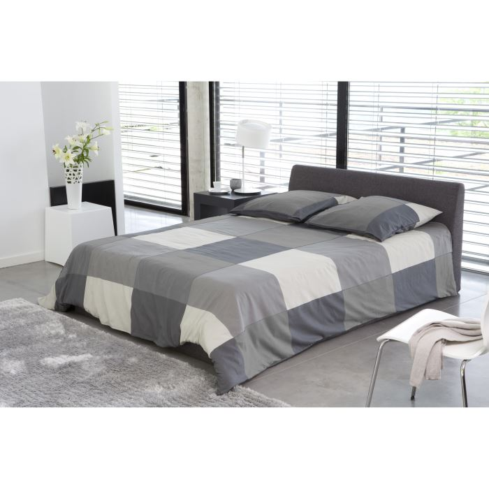 cosmo lit complet avec coffre gris 140x190 cm aucune pickture. Black Bedroom Furniture Sets. Home Design Ideas