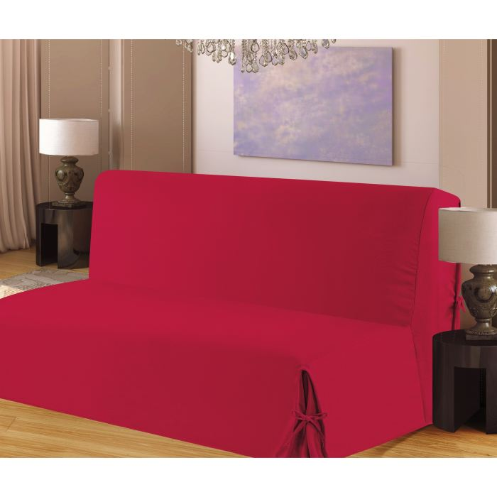 housse de clic clac a nouettes en bachette rouge aucune. Black Bedroom Furniture Sets. Home Design Ideas