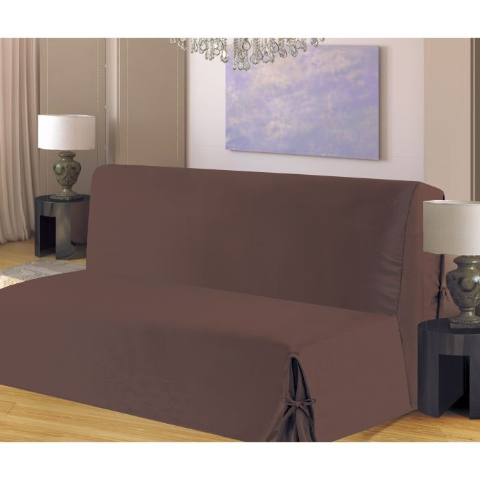 housse de clic clac a nouettes en bachette choco aucune pickture. Black Bedroom Furniture Sets. Home Design Ideas