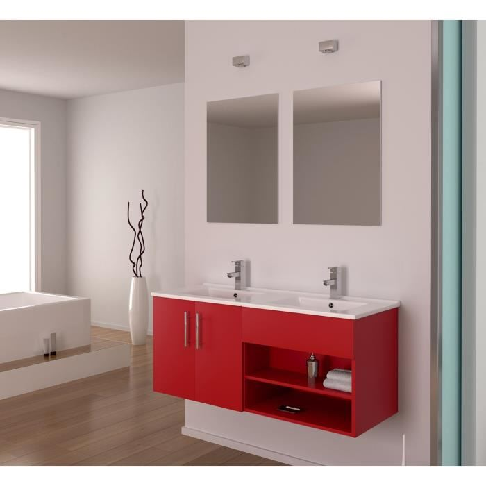 Eros ensemble double vasque rouge 120 cm aucune pickture - Ensemble double vasque ...