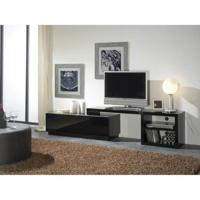 jadel meuble tv extensible noir aucune pickture. Black Bedroom Furniture Sets. Home Design Ideas