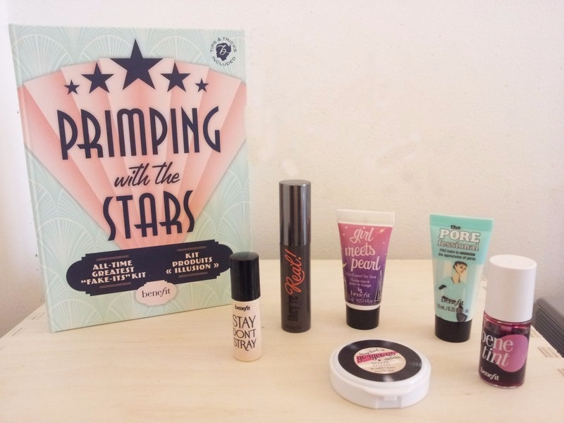 kit de maquillage primping with the stars benefit cosmetics pickture. Black Bedroom Furniture Sets. Home Design Ideas