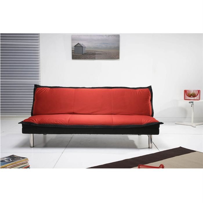 wash banquette clic clac tissu rouge noir aucune pickture. Black Bedroom Furniture Sets. Home Design Ideas