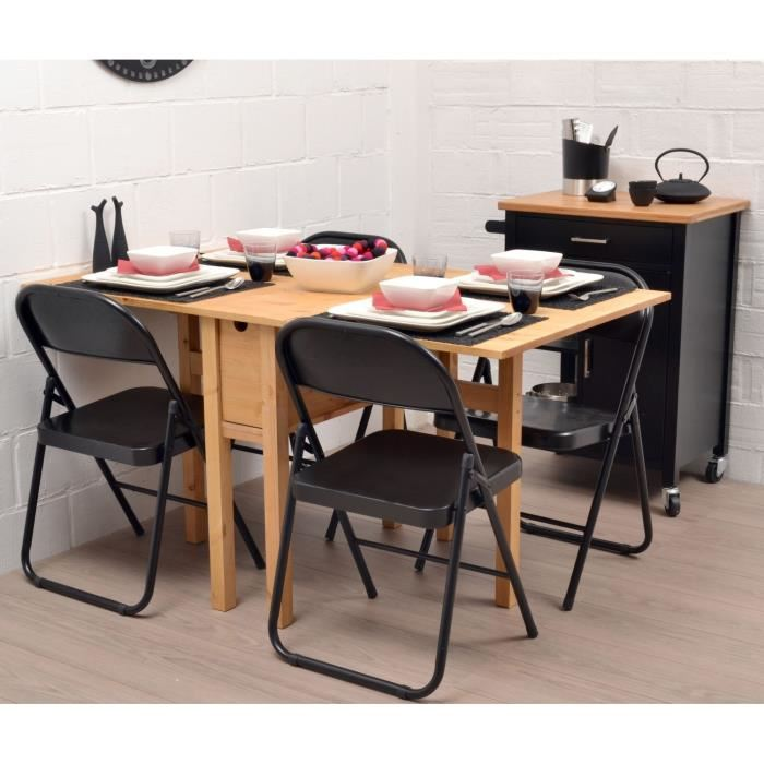 delicieux table murale personnes noemie table pliante en pin massif cm with tables de cuisine. Black Bedroom Furniture Sets. Home Design Ideas