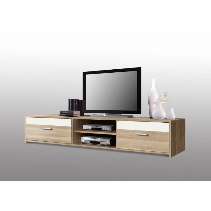 paco meuble tv chene et blanc 160x32 aucune pickture. Black Bedroom Furniture Sets. Home Design Ideas