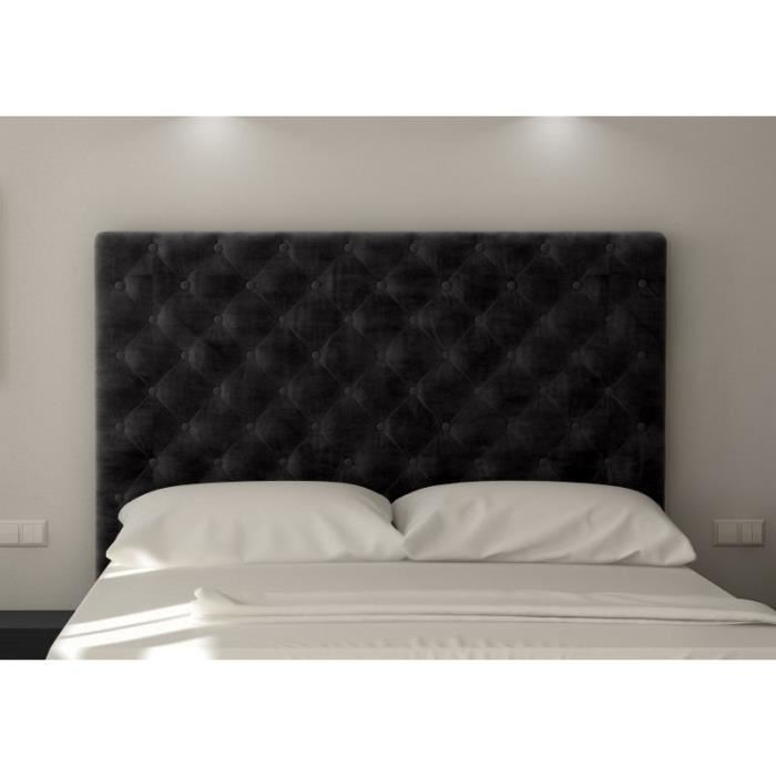 sogno tete de lit capitonn e 180 cm tissu noire aucune pickture. Black Bedroom Furniture Sets. Home Design Ideas