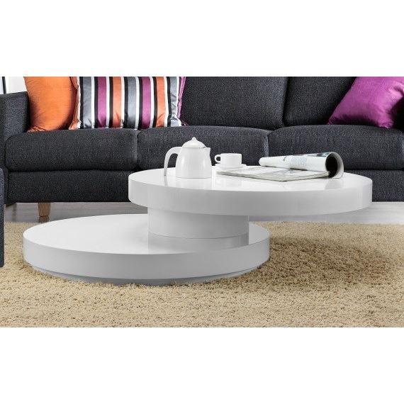 Roll table basse ronde plateau pivotant aucune pickture for Table basse plateau relevable fly