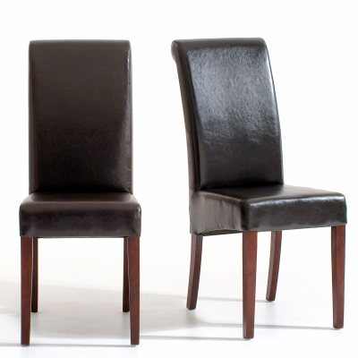 Chaise imitation cuir lot de 2 bangor la redoute pickture - Chaise imitation cuir ...
