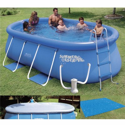 Piscine autoportante ovale 457 x 305 m la redoute pickture for Piscina autoportante