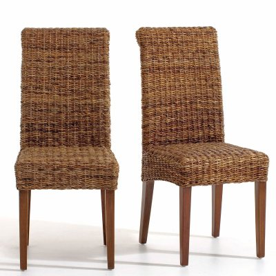 chaise en abaca lot de 2 bangor la redoute pickture. Black Bedroom Furniture Sets. Home Design Ideas