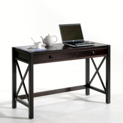 bureau pin massif teint weng derry la redoute pickture. Black Bedroom Furniture Sets. Home Design Ideas